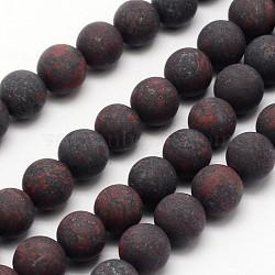 """Chapelets de perles en jaspe de brecciated naturel, mat, rond, 6mm, trou: 0.8mm; environ 60 pcs/chapelet, 14.1""""(X-G-D690-6mm)"""