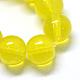 Baking Painted Transparent Glass Round Bead Strands(X-DGLA-Q022-10mm-08)-2