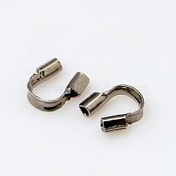 Gardien et protecteurs de fil en laiton, gunmetal, taille:  Largeur environ 4mm, Longueur 5mm, 1 mm d'épaisseur, trou: 0.5 mm(X-KK437-B)
