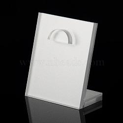verre organique pendentif affiche, blanc, 100x80x45 mm(PDIS-N002-02)