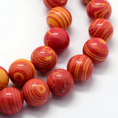 Synthetic Malachite Beads Strands(G-I199-32-10mm)-4