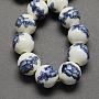 8mm SteelBlue Round Porcelain Beads(PORC-Q200-8mm-5)