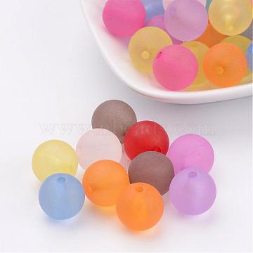 14mm Mixed Color Round Acrylic Beads