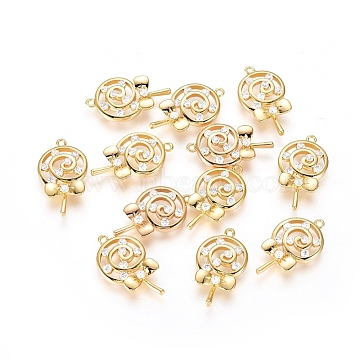 Real Gold Plated Clear Candy Brass+Cubic Zirconia Pendants