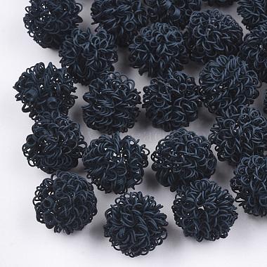 PrussianBlue Round Iron Beads
