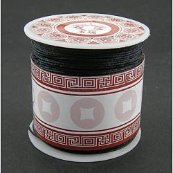 Fil de nylon, matériel de bricolage pour création de jewerly, noir, 1 mm; environ 35 m/rouleau(X-NS018-2)