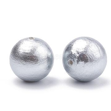 20mm LightGrey Round Cotton Beads