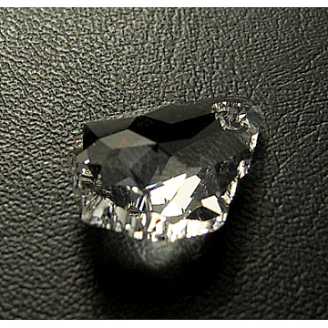 Austrian Crystal Pendants, Baroque Teardrop, Crystal, 11mm wide, 16mm long(X-6090-16X11MM-001)