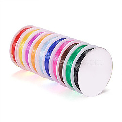 Fil cristal, fil élastique, cordons de perles de bijoux, pour la fabrication de bracelets élastiques, couleur mixte, 0.8 mm; environ 10 m/rouleau(EW-S004-0.8mm)