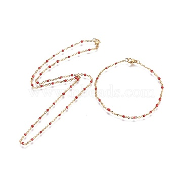 Red Stainless Steel Bracelets & Necklaces