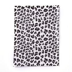 A5 PU Leather Fabric, Garment Accessories, for DIY Crafts,Leopard Print Pattern, DarkGray, 20x15x0.1cm(AJEW-WH0148-96C)