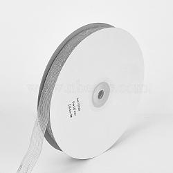 """Ruban d'organza, gris clair, 5/8"""" (16 mm); environ 50yards / rouleau (45.72m / rouleau)(ORIB-Q030--16mm-03)"""