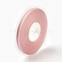 "Rayonne et ruban de coton, corail clair, 1/4"" (6 mm); environ 50yards / rouleau (45.72m / rouleau)(SRIB-F007-161-6mm)"