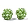 Yellow Green Round Glass Beads(X-GLAA-T024-01C-A06)