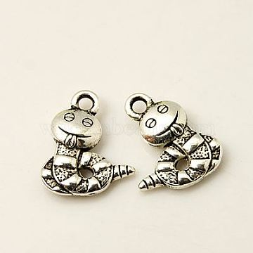Antique Silver Snake Alloy Charms