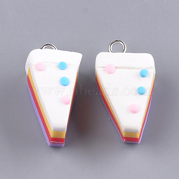 Platinum Colorful Food Polymer Clay Pendants