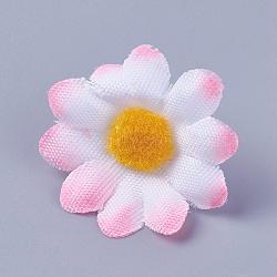 tournesol en tissu de soie, tête de fleur artificielle, pour la décoration de fête de mariage, rose, 40x16~17 mm; diamètre intérieur: 2 mm(DIY-WH0134-A12)