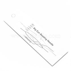 Iron Big Eye Beading Needles, Seed Bead Needle, for Jewelry Making, Platinum, 113x0.4mm(X-TOOL-N006-01)