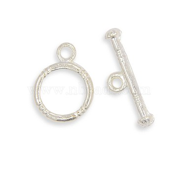 Silver Flat Round Alloy Toggle and Tbars