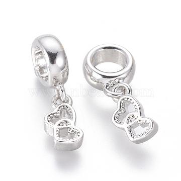 19mm Heart Brass Dangle Beads