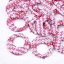 Deep Pink Flat Round Raffia Pendants(X-WOVE-T005-36P)