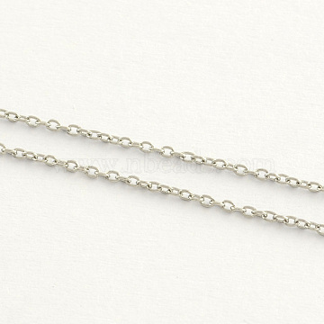 304 Stainless Steel Cable Chains, Soldered, Oval, Stainless Steel Color, 2.5x2x0.5mm(X-CHS-Q001-12-100m)