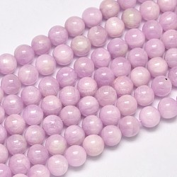 Round Grade A Natural Kunzite Beads Strands, Spodumene Beads, 8mm, Hole: 1mm; about 50pcs/strand, 15.5inches(G-F289-36-8mm)
