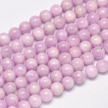 Round Grade A Natural Kunzite Beads Strands, Spodumene Beads, 8mm, Hole: 1mm; about 50pcs/strand, 15.5 inches(G-F289-36-8mm)