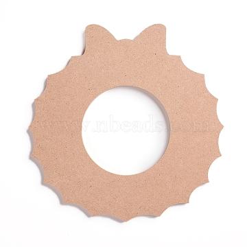 Undyed Natural Wood Mosaic Bases, for DIY Glass Mosaic Tiles Crafts, Christmas Garland, BurlyWood, 202x197x6mm(WOOD-G005-05)