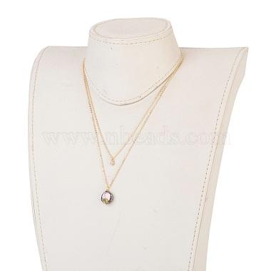 Natural Baroque Pearl Keshi Pearl Tiered Necklaces(NJEW-JN02255-01)-4
