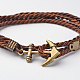 Two Loops Polyester Cord Wrap Bracelets(BJEW-M193-02)-2