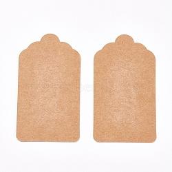 Affichage de bijoux étiquettes de prix de papier kraft, rectangle, Sandybrown, 80x45x0.3 mm; 50 pcs / sac(CDIS-WH0005-05J)
