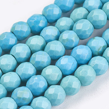 4mm PaleTurquoise Round Howlite Beads