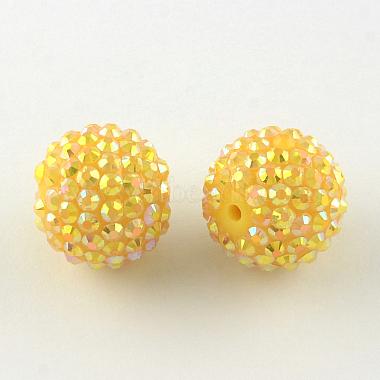 ab-perles de couleur strass de résine(RESI-S315-20x22-12)-1