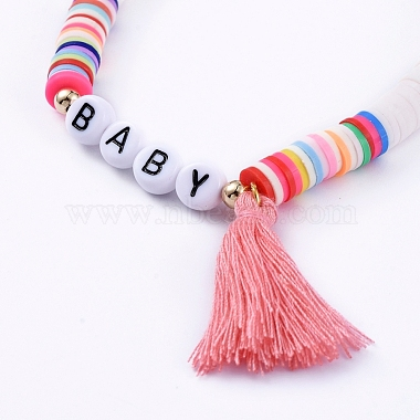 Handmade Polymer Clay Heishi Beads Stretch Bracelets(BJEW-JB05086-01)-2