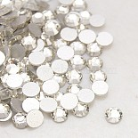 Flat Round Glass Rhinestone Cabochons(RGLA-C002-SS16-001)