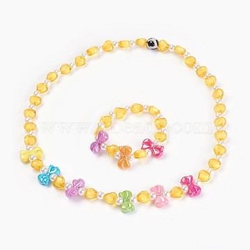 Yellow Acrylic Bracelets & Necklaces