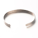 Love & Dream & Luck 304 Stainless Steel Cuff Bangles(BJEW-N263-01)-2