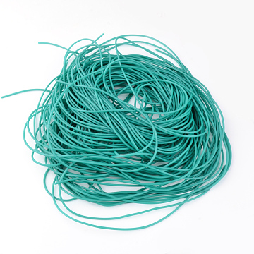 PVC Tubular Solid Synthetic Rubber Cord, No Hole, Light Sea Green, 2mm, about 1.09 yards(1m)/strand(RCOR-R009-2mm-07)