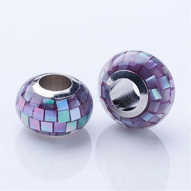 Shell European Beads(KK-P070-8x12mm)-2