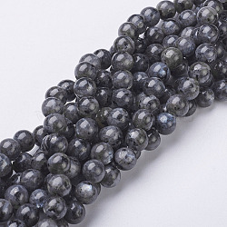 Natural Labradorite Beads Strand, Round, about 8mm, Hole: 1mm; about 47~49pcs/strand, 15.5inches(X-GSR8mmC128)