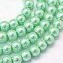 4mm Vert Clair Rond Verre Perles(X-HY-Q003-4mm-63)