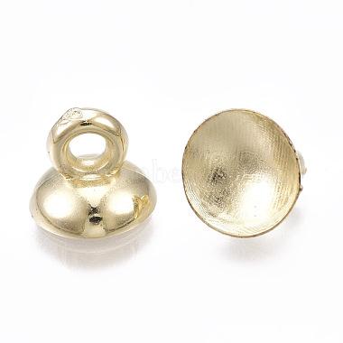 CCB Plastic Bead Cap Pendant Bails(CCB-T006-099KC)-2