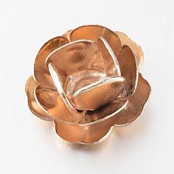 Flower Iron Beads, Golden, 11x5.5mm, Hole: 1mm(IFIN-L019-13G)
