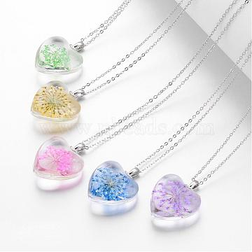 Mixed Color Glass Necklaces