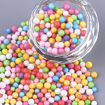 Small Craft Foam Balls, Round, for DIY Wedding Holiday Crafts Making, Mixed Color, 2.5~3.5mm(KY-T007-08)