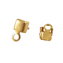 Golden Brass Cup Chain Connectors(X-EC288-3G)