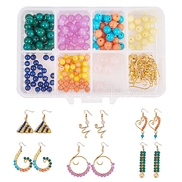 Mixed Color Mixed Material Earring Making Diy Sc0003 93