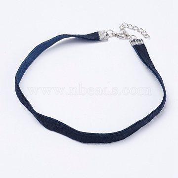 MarineBlue Cloth Necklaces
