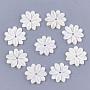 резные пресноводные ракушки, цветок, слоновая кость, 20x19x2.5 mm, отверстия: 1.5 mm